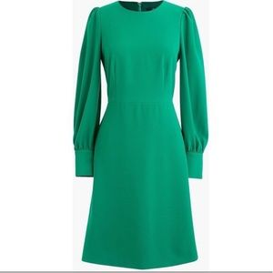 JCrew 365 crepe long sleeve fit and flare dress